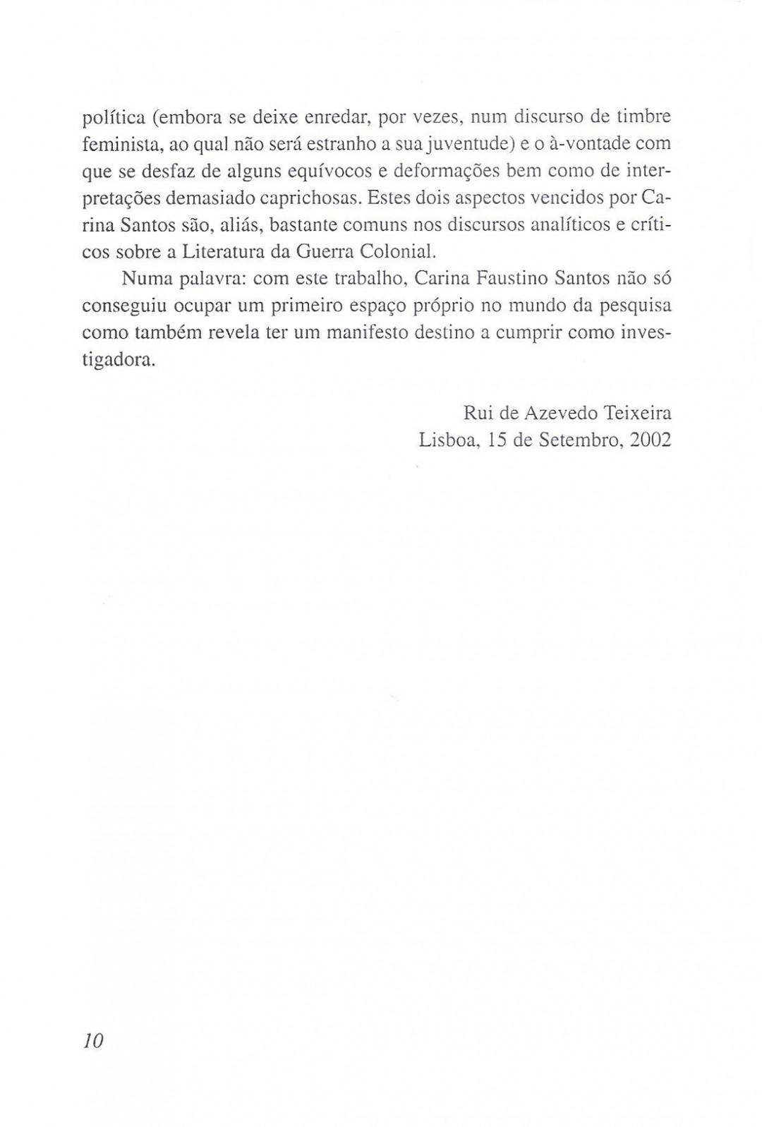 8. A Escrita Feminina e a Guerra Colonial