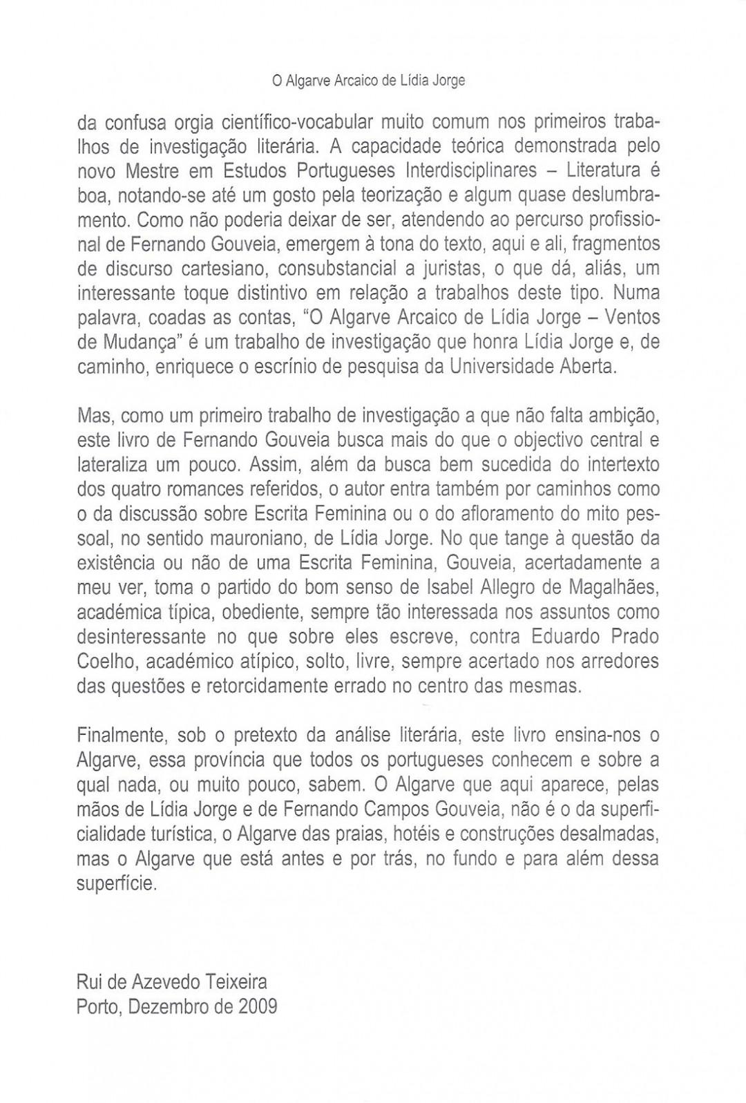 7. O Algarve Arcaico de Lídia Jorge
